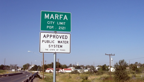 Marfa, TX. Approved Water System