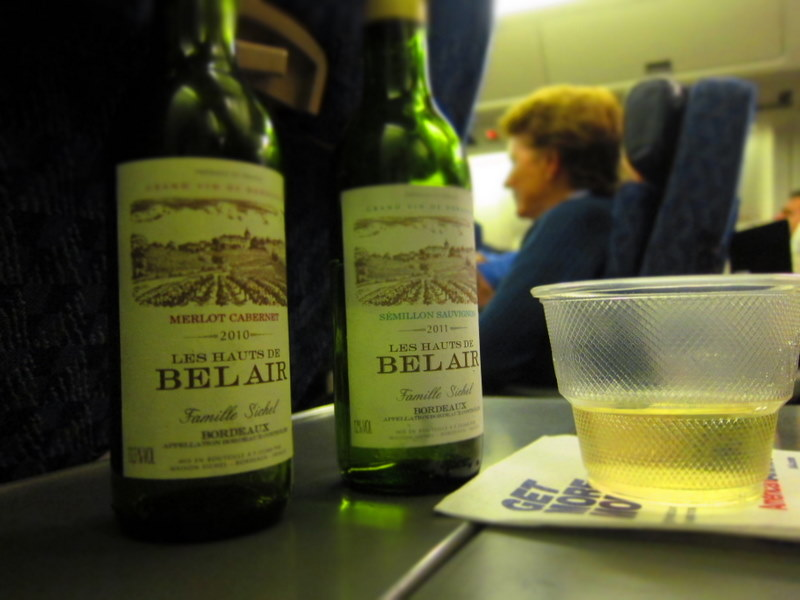 American Airline Wine Selection